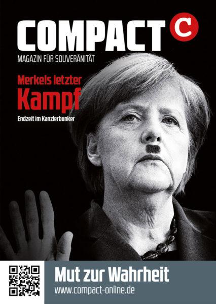 Merkel Kampf Aufkleber