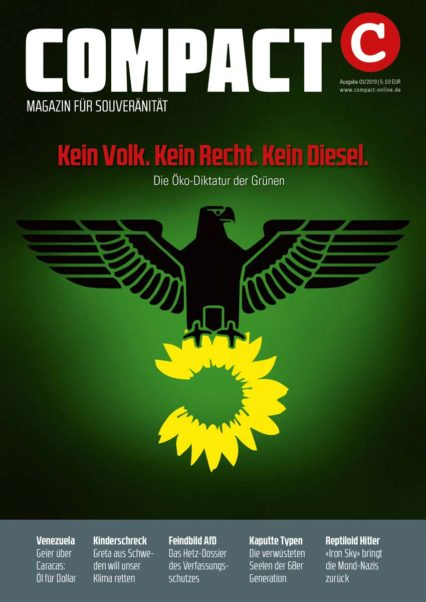 Die COMPACT-Ausgabe 3/2019 mit dem Titelthema zu den Grünen
