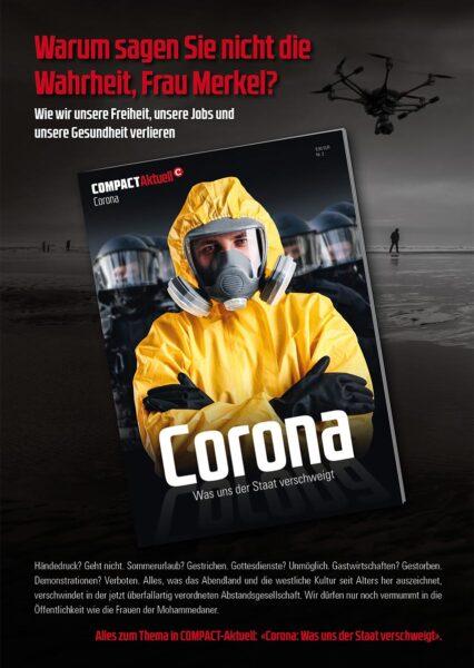 """50 x COMPACT-Flyer """"Corona. Was uns der Staat verschweigt"""""""