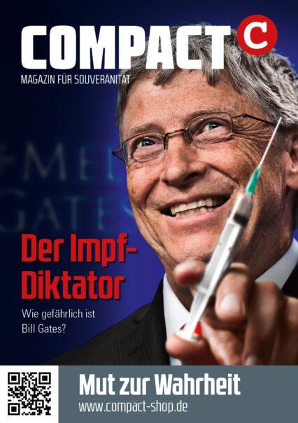 """COMPACT-Aufkleber """"Der Impf-Diktator"""" (A7)"""