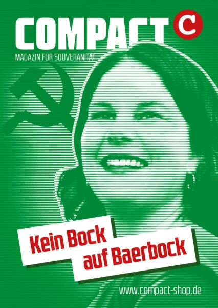 "20 x COMPACT-Aufkleber ""Kein Bock auf Baerbock"" (A7)"