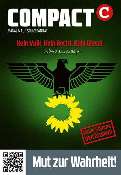 """2x COMPACT-Plakat (A2) """"Kein Volk. Kein Reich. Kein Diesel"""""""