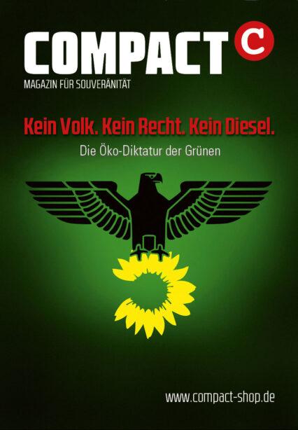 """20x COMPACT-Aufkleber (A7) """"Kein Volk. Kein Reich. Kein Diesel"""""""